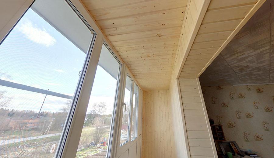 Фото отделки деревянной вагонкой балкон услуги.
